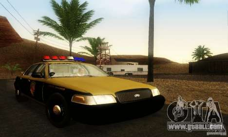 Ford Crown Victoria Maryland Police for GTA San Andreas