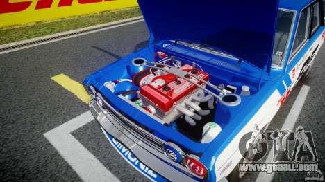 Datsun Bluebird 510 1971 BRE for GTA 4 upper view