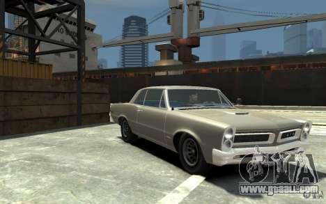 Pontiac GTO v1.1 for GTA 4 back view