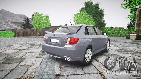 Subaru Impreza WRX 2011 for GTA 4 side view