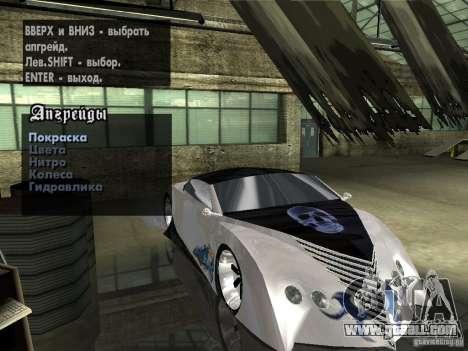 Thunderbold SlapJack for GTA San Andreas wheels