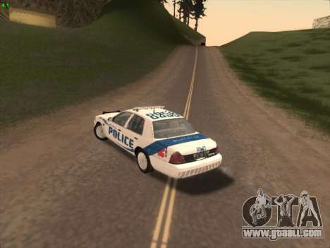 Ford Crown Victoria Vancouver Police for GTA San Andreas back view