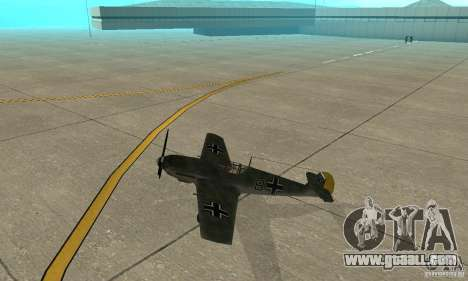 Bf-109 for GTA San Andreas back left view