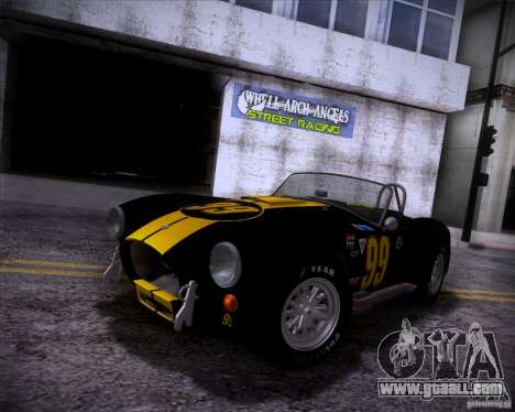 Shelby Cobra 427 Full Tunable for GTA San Andreas right view
