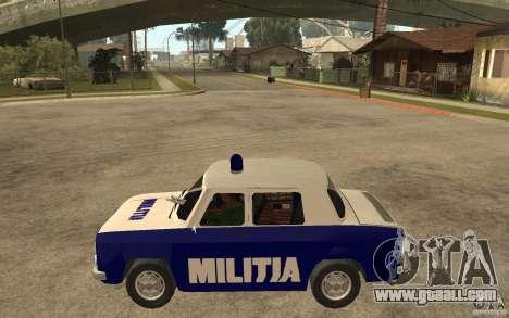 Dacia 1100 Militie for GTA San Andreas left view