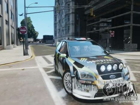 Ford Focus RS WRC for GTA 4 back view