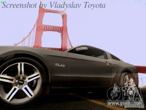 Ford Mustang GT 2011 for GTA San Andreas engine
