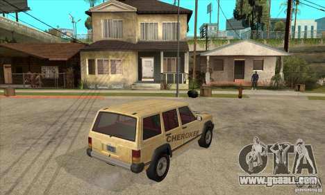 Jeep Cherokee 1984 for GTA San Andreas right view
