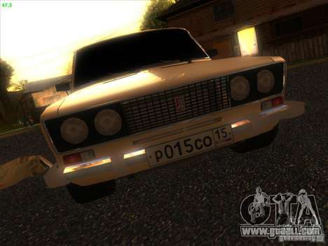 VAZ 2106 Tuning Light for GTA San Andreas inner view