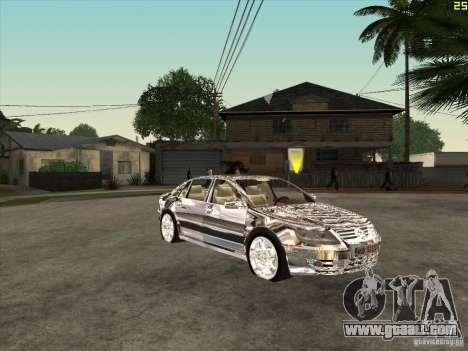 Volkswagen Phaeton chrome plated for GTA San Andreas back view