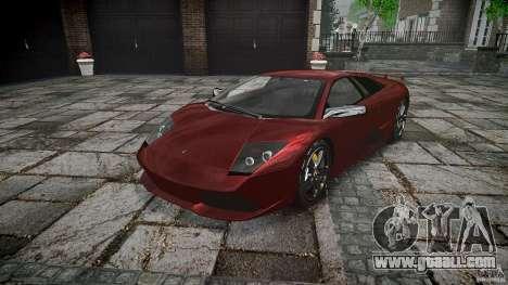 Lamborghini Murcielago v1.0b for GTA 4 back view
