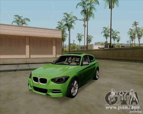 BMW M135i V1.0 2013 for GTA San Andreas left view