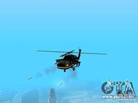 GTA 4 Annihilator Enterable for GTA San Andreas back left view