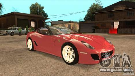 Ferrari 599 GTO 2010 V1.0 for GTA San Andreas back view