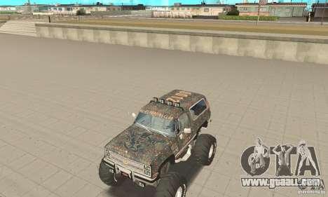 Chevrolet Blazer K5 Monster Skin 6 for GTA San Andreas left view