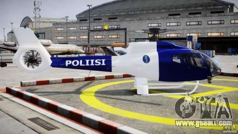 Eurocopter EC 130 Finnish Police for GTA 4 inner view