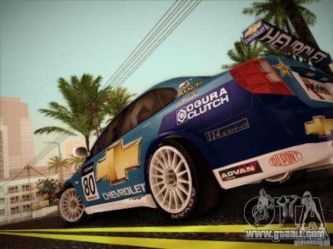 Chevrolet Lacetti WTCC v2 for GTA San Andreas right view