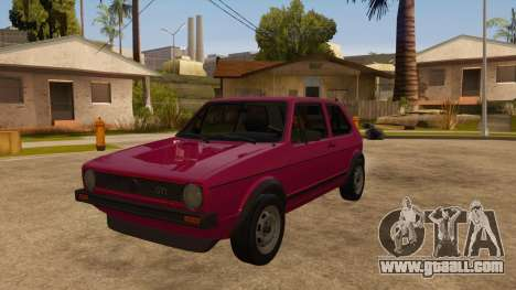 Volkwagen Golf MK1 Stock for GTA San Andreas back left view