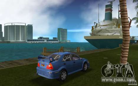 Mitsubishi Lancer Evo VI for GTA Vice City right view