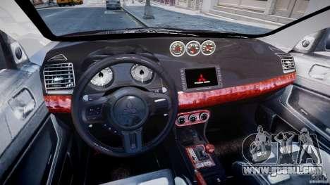 Mitsubishi Lancer X for GTA 4 right view