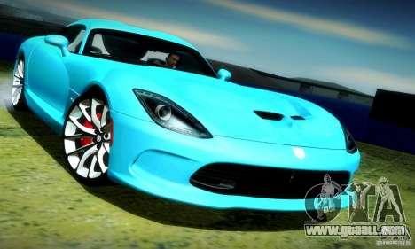 Dodge Viper SRT  GTS for GTA San Andreas