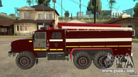 Ural 43206 firefighter for GTA San Andreas left view