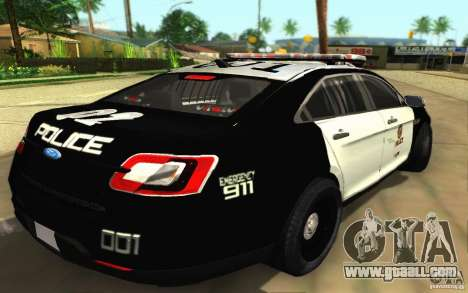 Ford Taurus 2011 LAPD Police for GTA San Andreas back left view