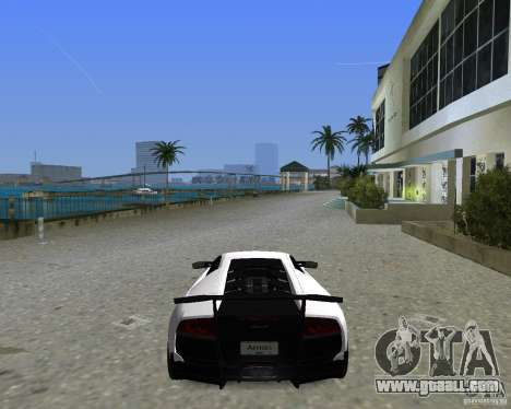 Lamborghini Murcielago LP670-4 SV for GTA Vice City back left view