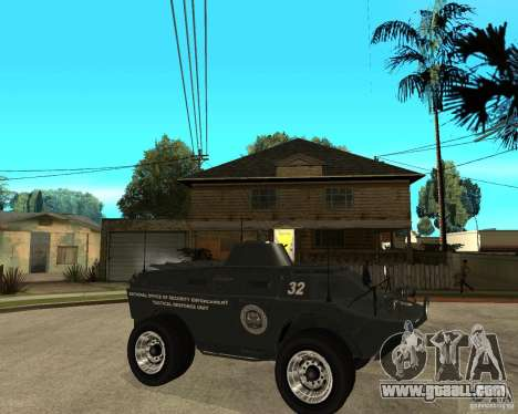 The APC from GTA IV for GTA San Andreas right view