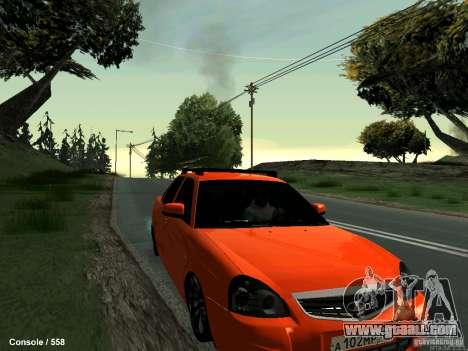 LADA 2170 102-RUS for GTA San Andreas back view