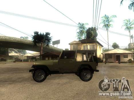 Jeep Wrangler 1986 4.0 Fury v.3.0 for GTA San Andreas left view