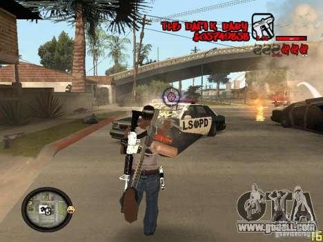 Hud by Dam1k for GTA San Andreas fifth screenshot