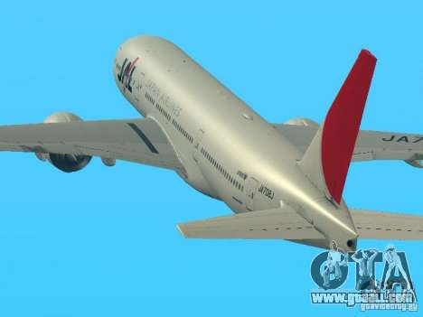 Boeing 777-200 Japan Airlines for GTA San Andreas left view