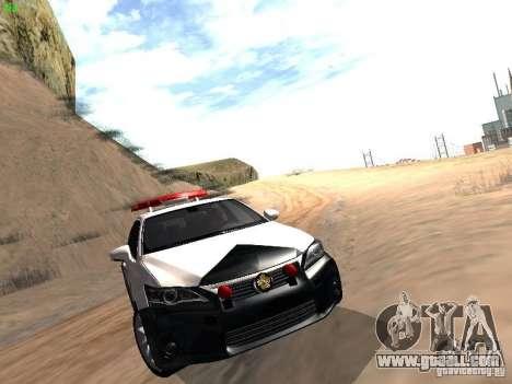 Lexus CT200H Japanese Police for GTA San Andreas