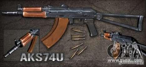 [Point Blank] AKS74U for GTA San Andreas
