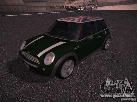 Mini Cooper S for GTA San Andreas bottom view