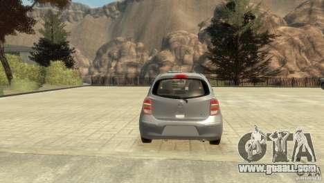 Nissan Micra for GTA 4 inner view