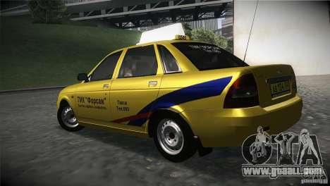 LADA 2170 Priora Taxi TMK Afterburner for GTA San Andreas left view