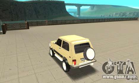 VAZ 21213 4 x 4 for GTA San Andreas back left view
