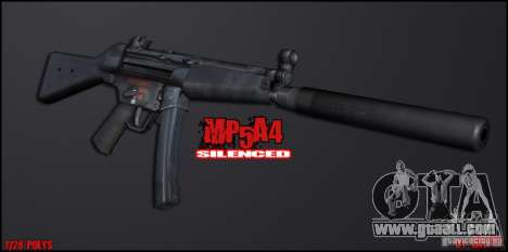 MP5A4 Silenced for GTA San Andreas second screenshot