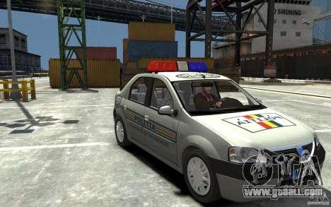 Dacia Logan Prestige Politie for GTA 4 back view