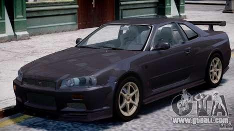 Nissan Skyline GT-R 34 V-Spec for GTA 4 left view