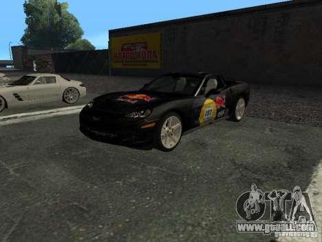 Chevrolet Corvette C6 for GTA San Andreas upper view