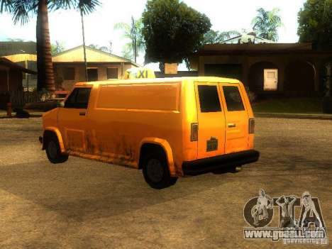Taxi Burrito for GTA San Andreas back left view