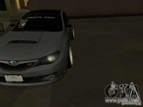 Subaru Impreza STI hellaflush for GTA San Andreas back view