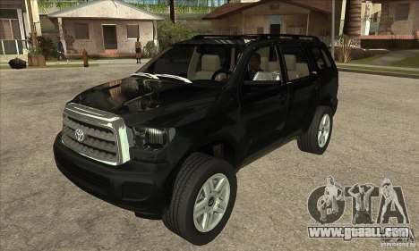 Toyota Sequoia for GTA San Andreas back view