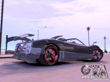 Pagani Zonda Cinque Roadster v 2.0 for GTA 4 left view