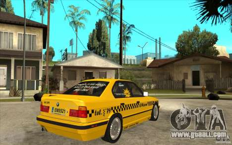 BMW 525tds E34 Taxi for GTA San Andreas right view