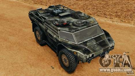 Armored Security Vehicle for GTA 4 upper view
