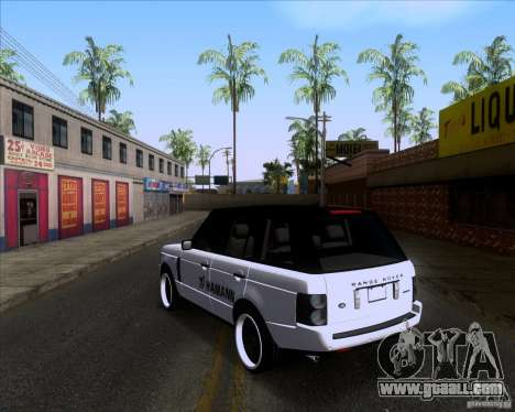 Range Rover Hamann Edition for GTA San Andreas back left view